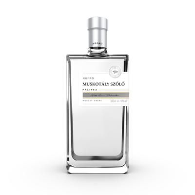 Árpád Silver Muskotály Szőlő Pálinka  0.5L (40%)